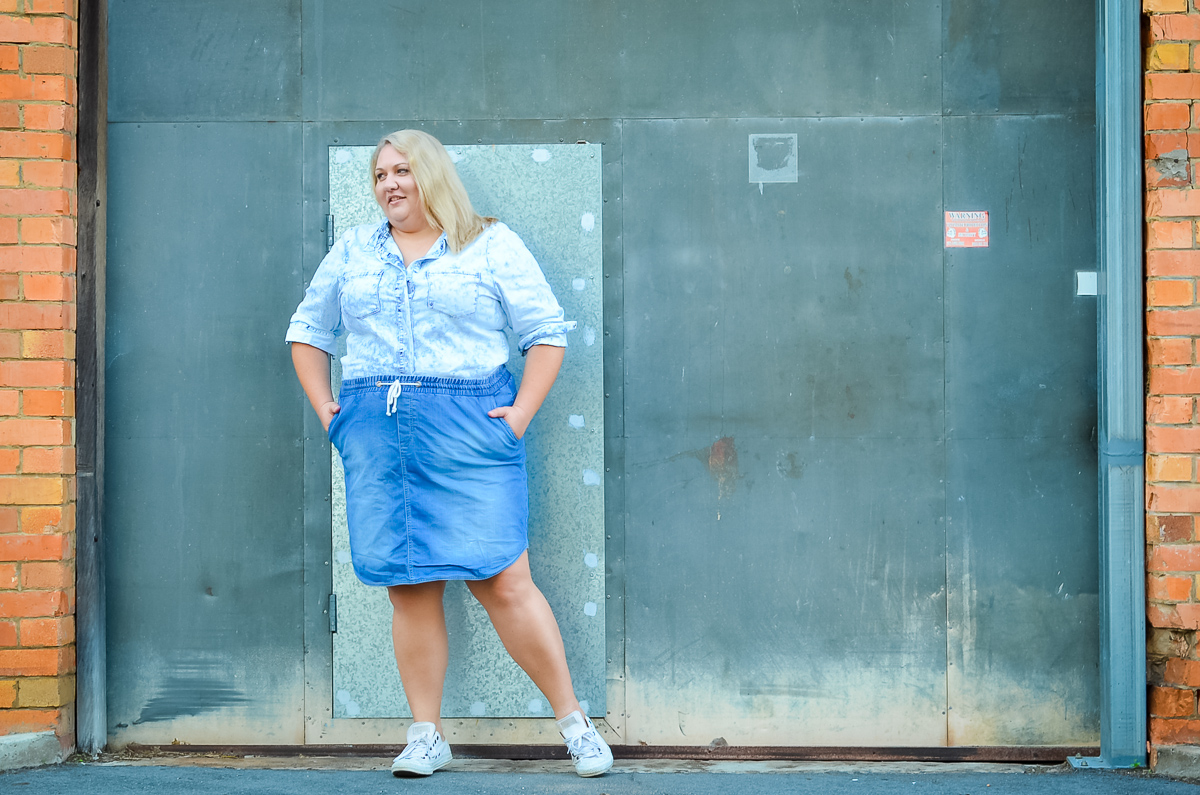 plus size double denim blogger-5