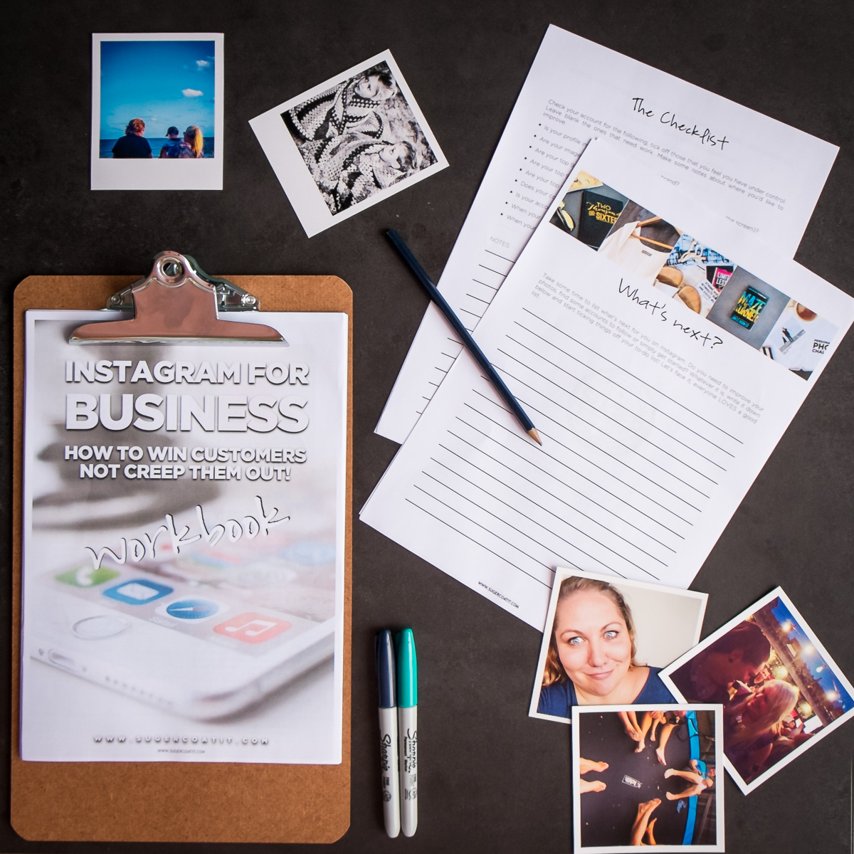 Suger's instagram for business workbook - How to win customer not creep them out.