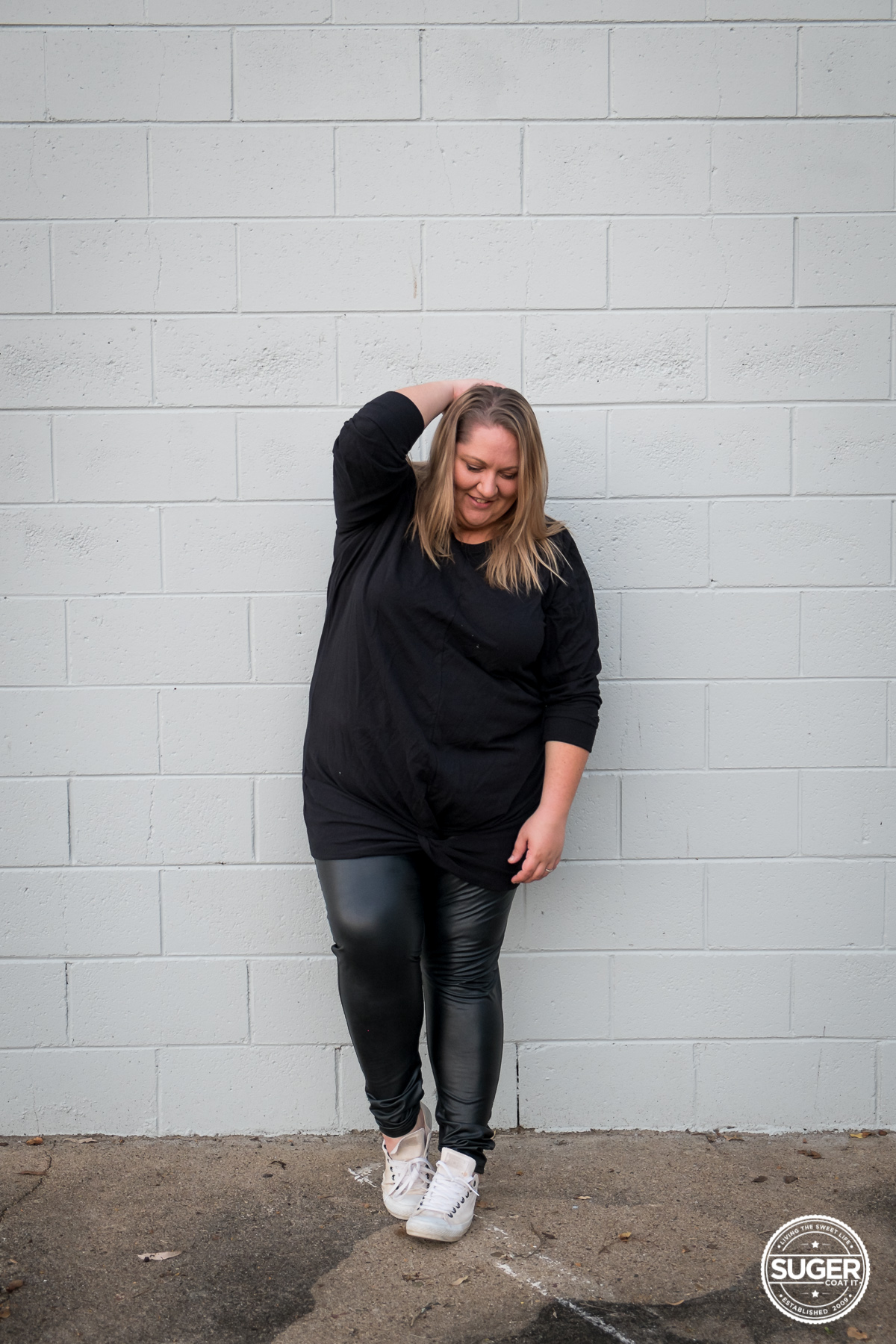 Slouchy Sporty Casual Outfit for Winter | www.sugercoatit.com