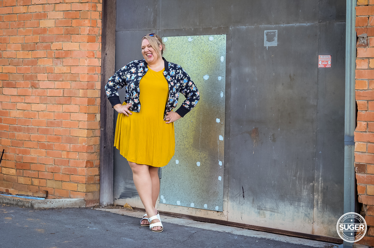 plus size casual outfit asos curve swing dress floral bomber-1