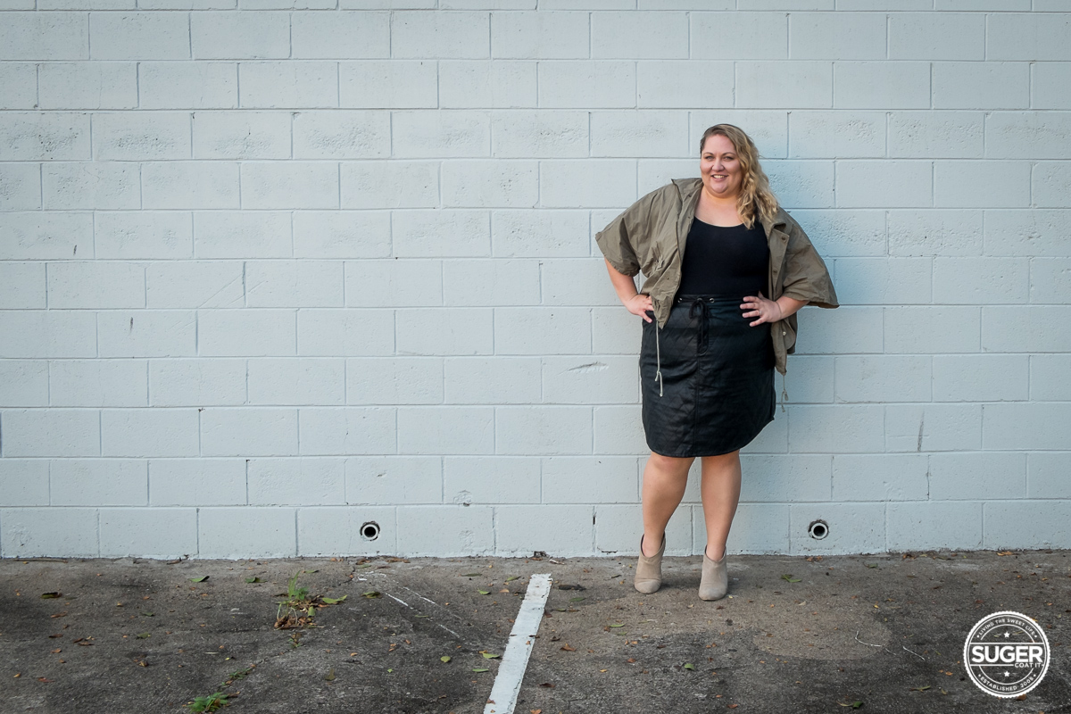 plus size blogger outfit pleather skirt-3