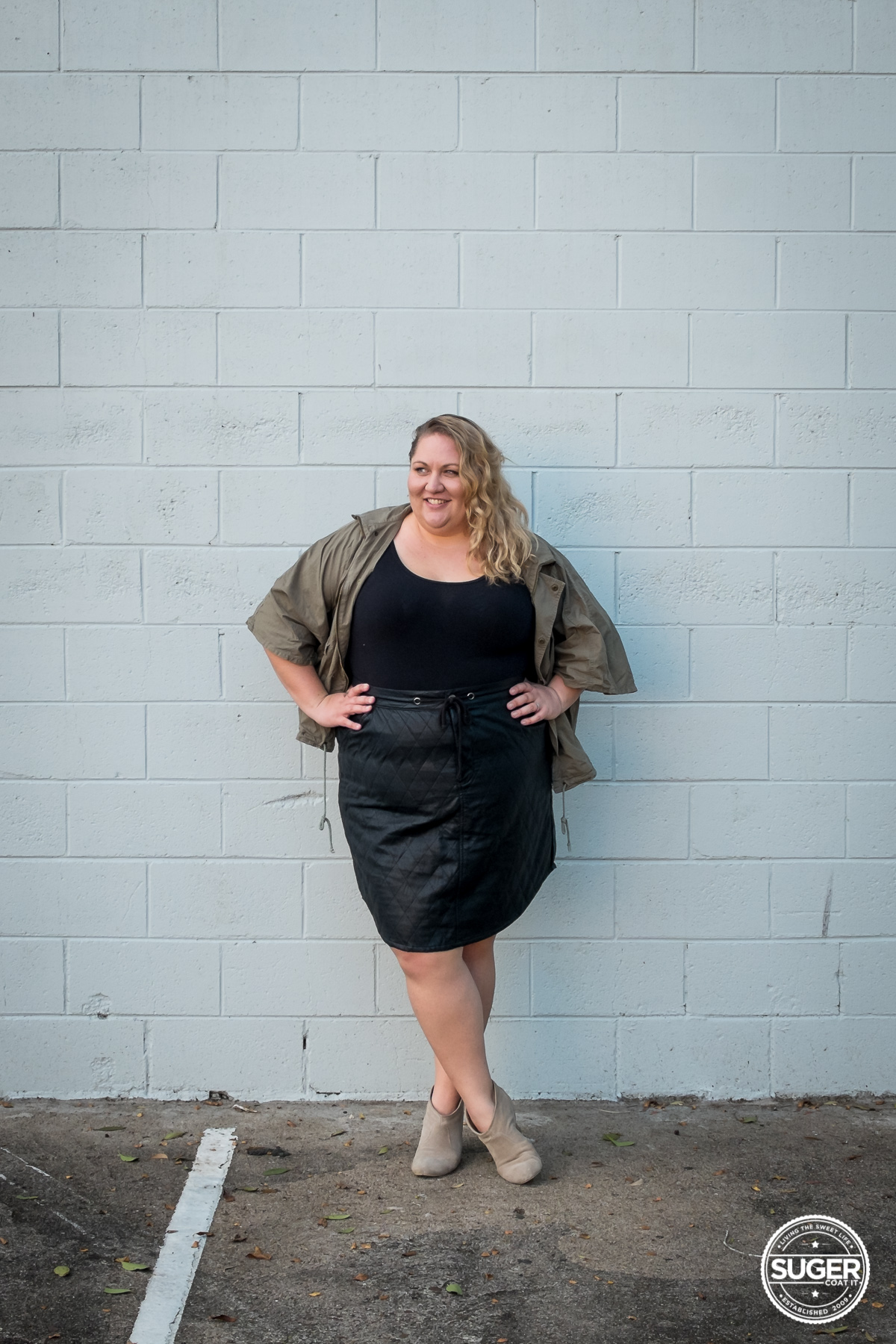 plus size blogger outfit pleather skirt-6