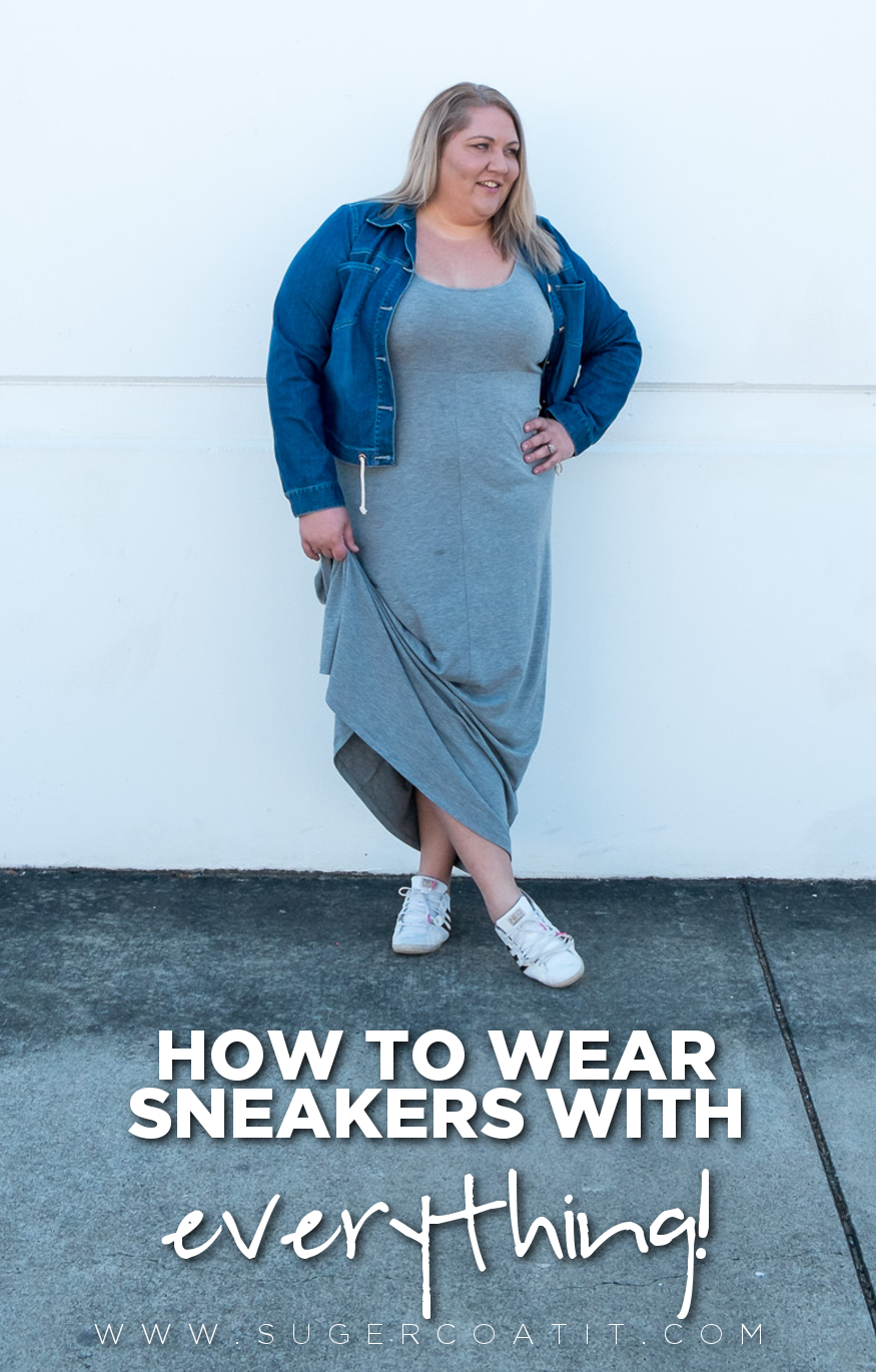 A quick guide for wearing sneakers with everything! | www.sugercoatit.com