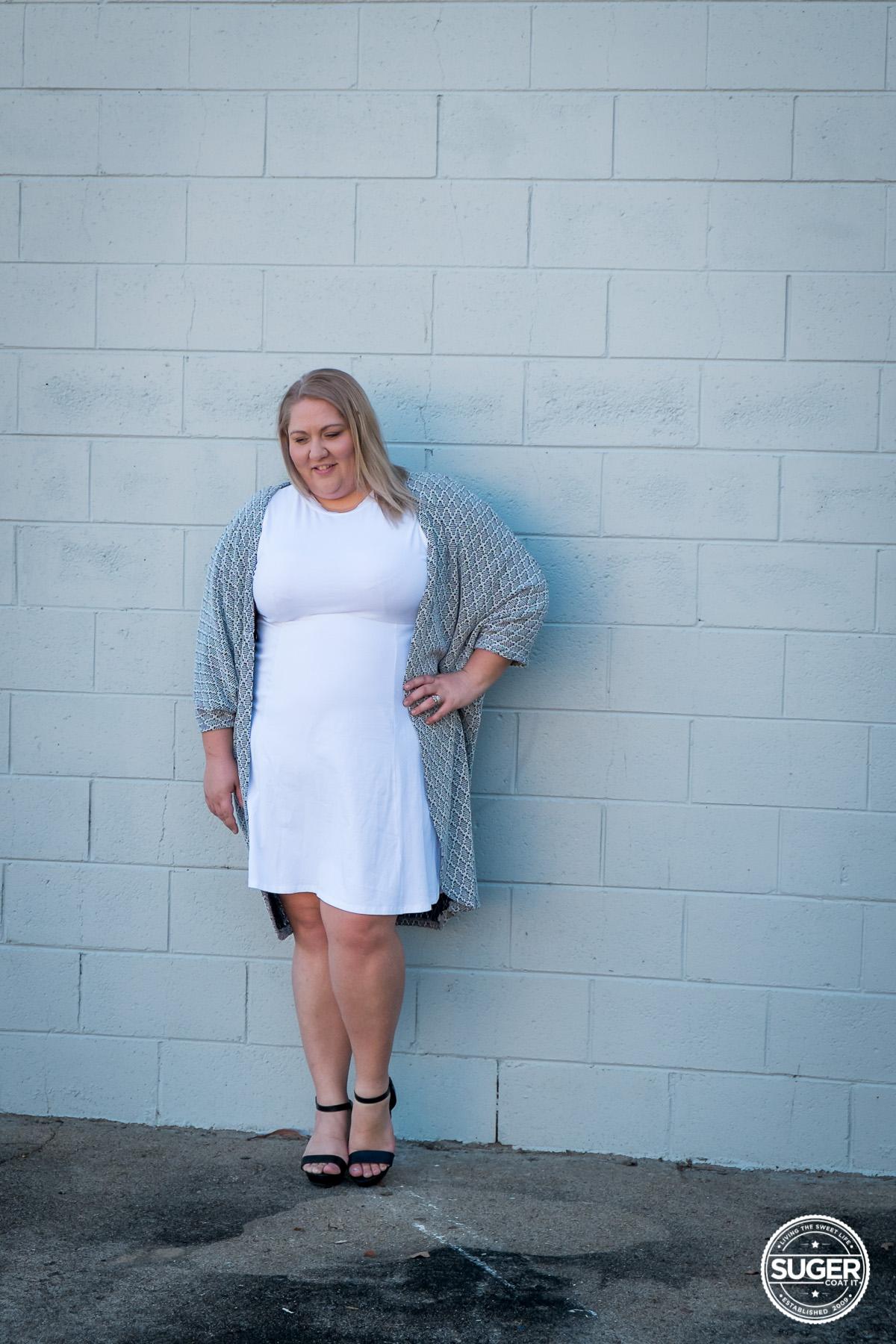 plus size blogger asos curve white dress-3