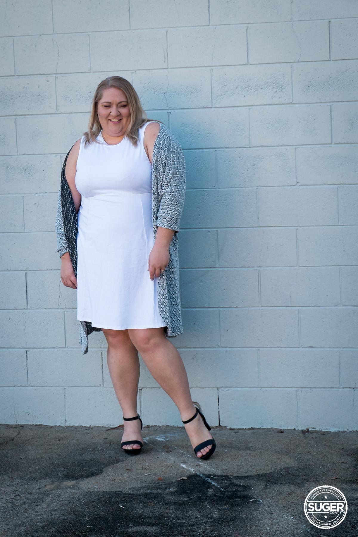 plus size blogger asos curve white dress-4