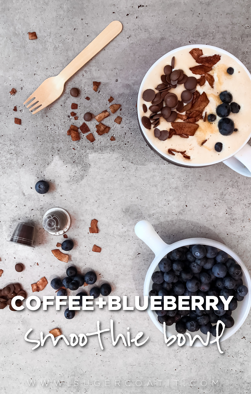 smoothie bowl coffee blueberry - Suger Coat It