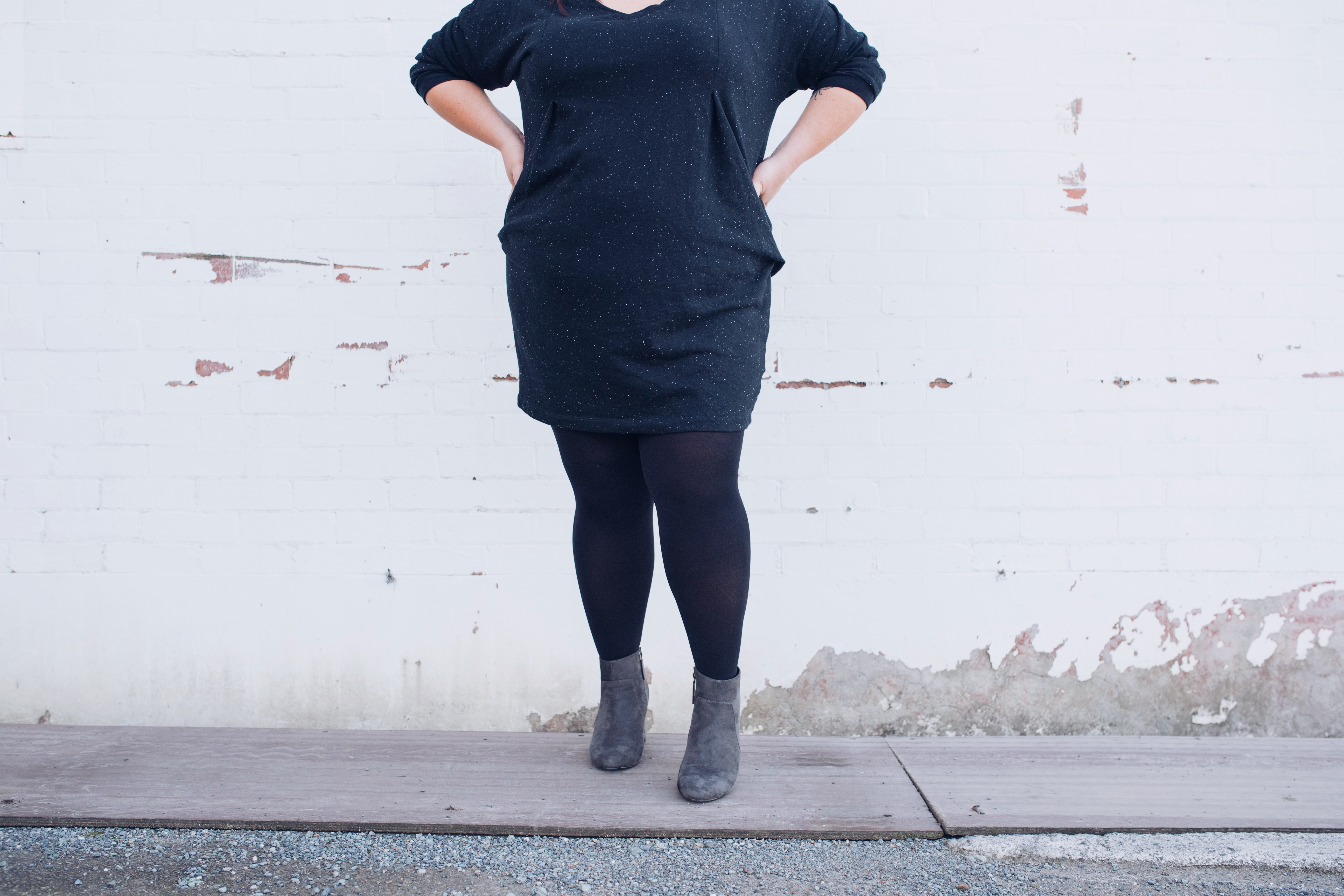 Boots, Tights, Dress: Winter Style - Suger Coat It