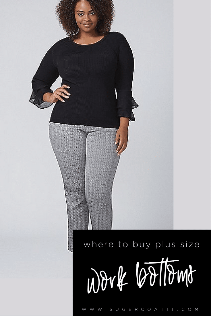 Where to Buy - Plus Size Work Clothes - Suger Coat It
