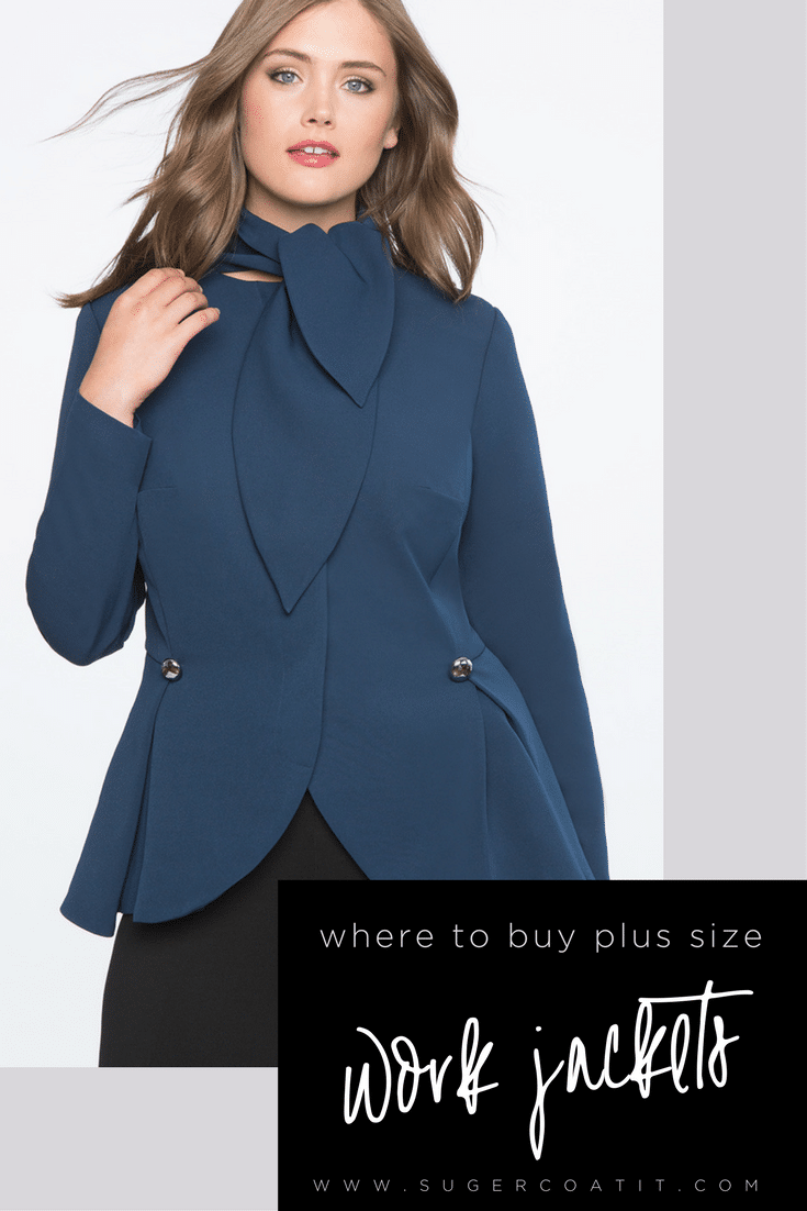 where to buy plus size work jackets - suger coat it