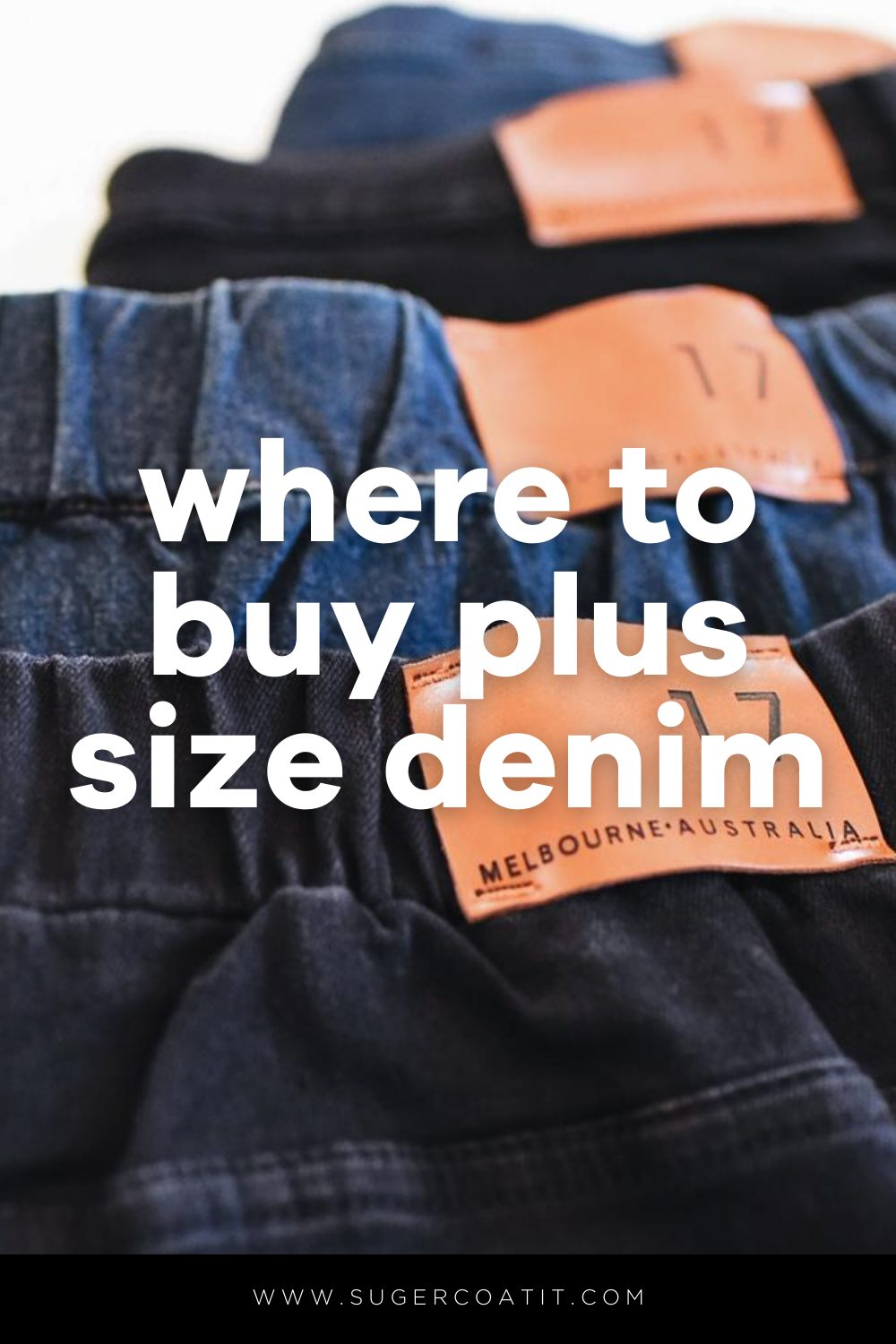 Where to buy plus size denim jeans - Suger Coat It