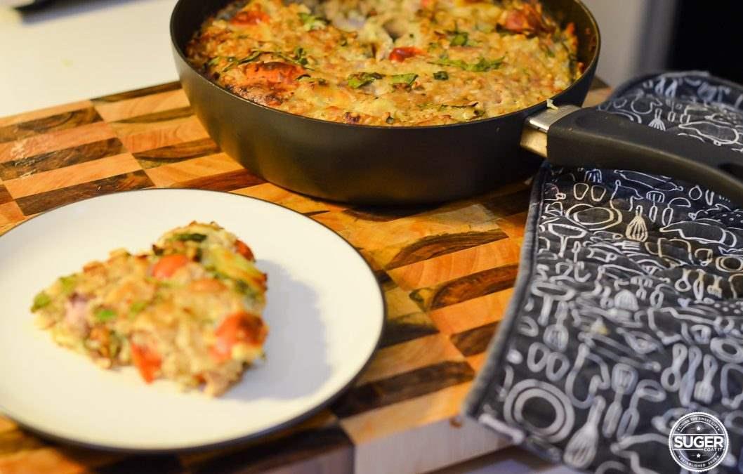 Baked Rice & Tuna Pie