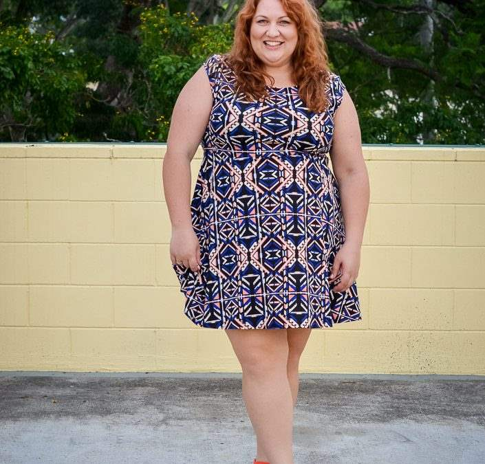 She Wore What: Printed Casual Dress