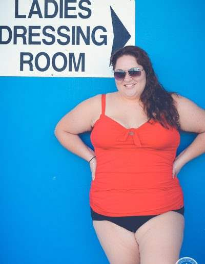 plus-size swimwear pool-13