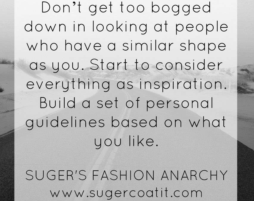 Suger's Fashion Anarchy: Relearning the good stuff