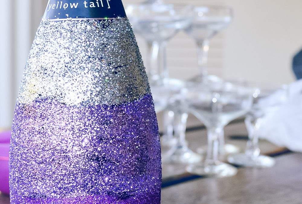 Glitter Champagne Bottle DIY aka Glitter Booze