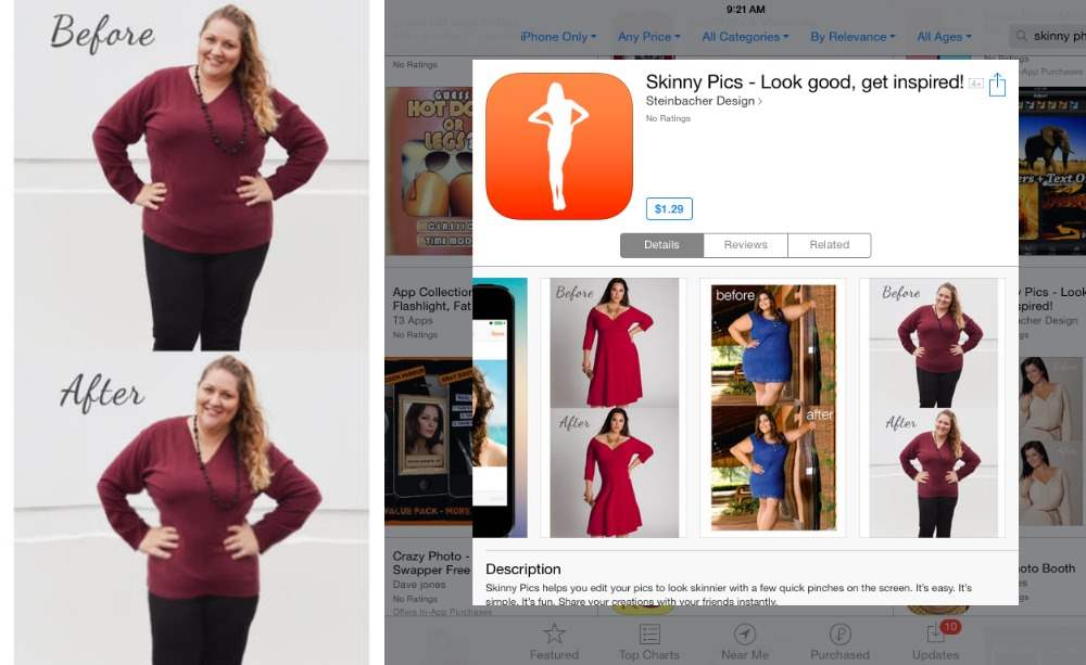 Skinny Pics is a stupid app & not just because they stole my photo