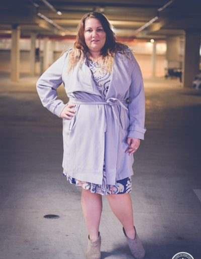 plus size print dress -2