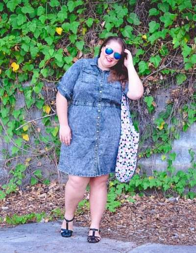 city chic denim dress casual outfit plus size-5