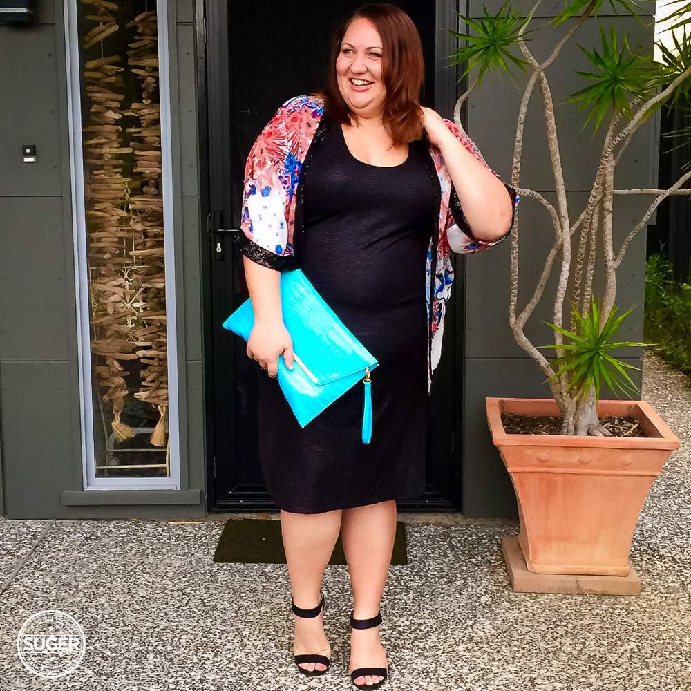 queensland plus size blogger christmas party suger coat it