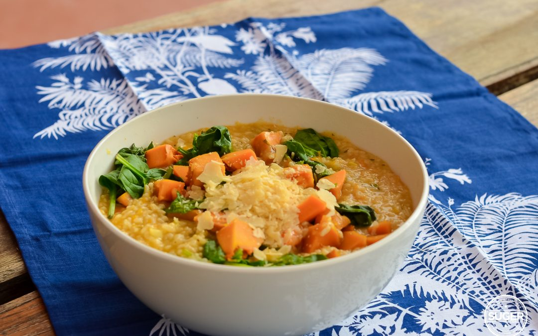 Thermomix Pumpkin and Spinach Risotto