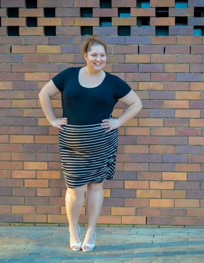 plus size work style stripe skirt 17 sundays-6