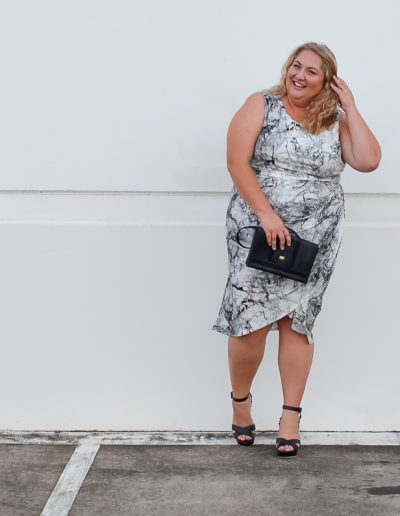 plus size blogger asos marble print dress-6