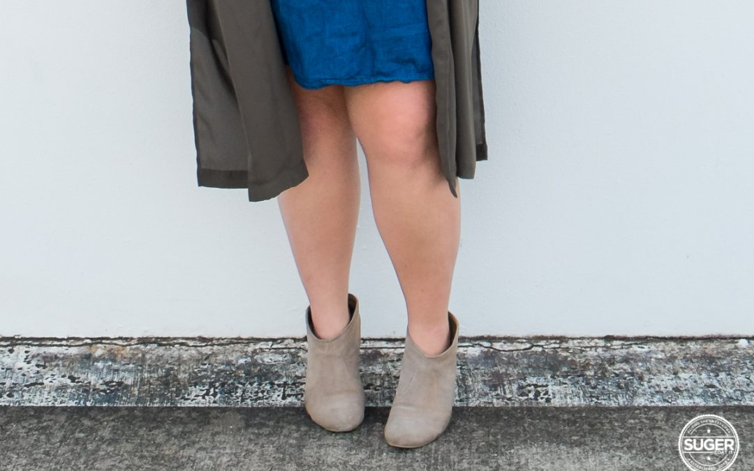 How I wear ankle boots as a plus size woman