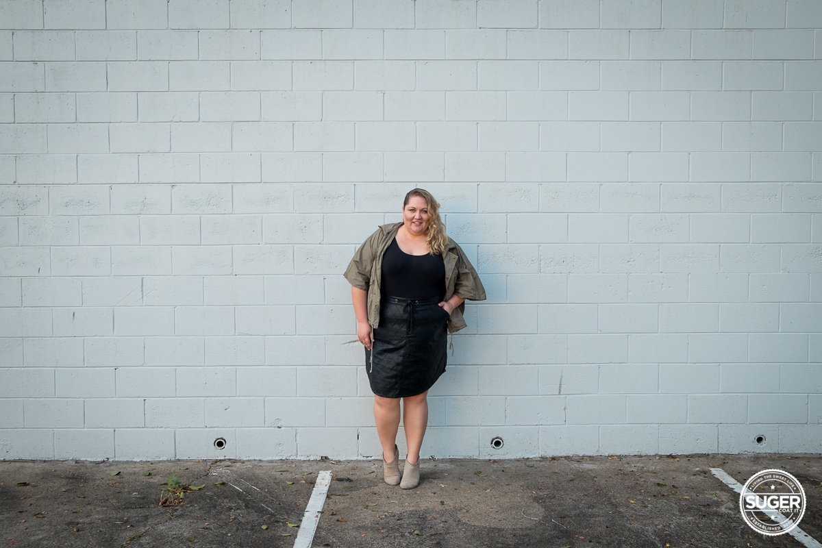 plus size blogger outfit pleather skirt-7