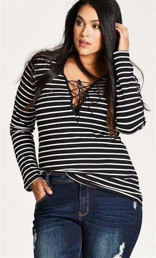 where to buy plus size stripes - Suger Coat It