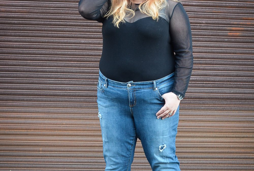 Boyfriend Jeans for a Plus Size Woman