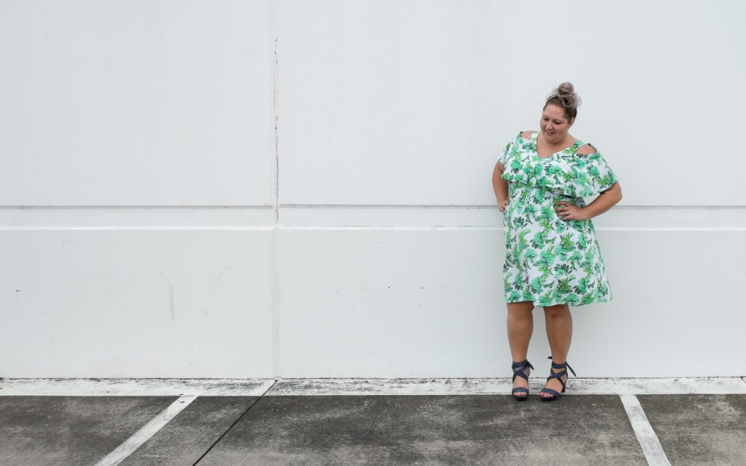 Umm, what? The Palm Print Summer Dress