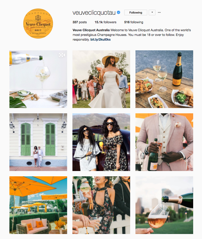 Verve Clicquot AU Instagram Account