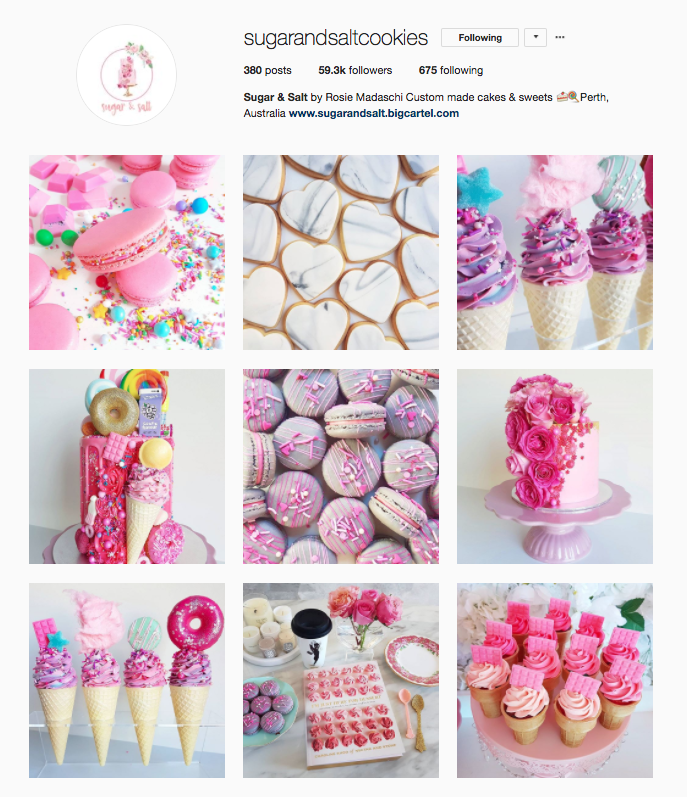 Sugar & Salt Cookies Instagram