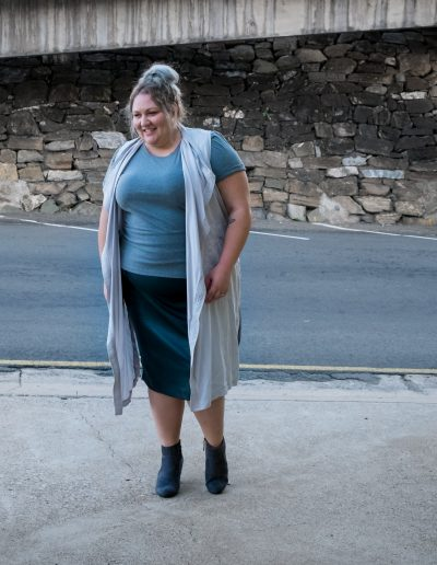 plus size grey layers outfit-1