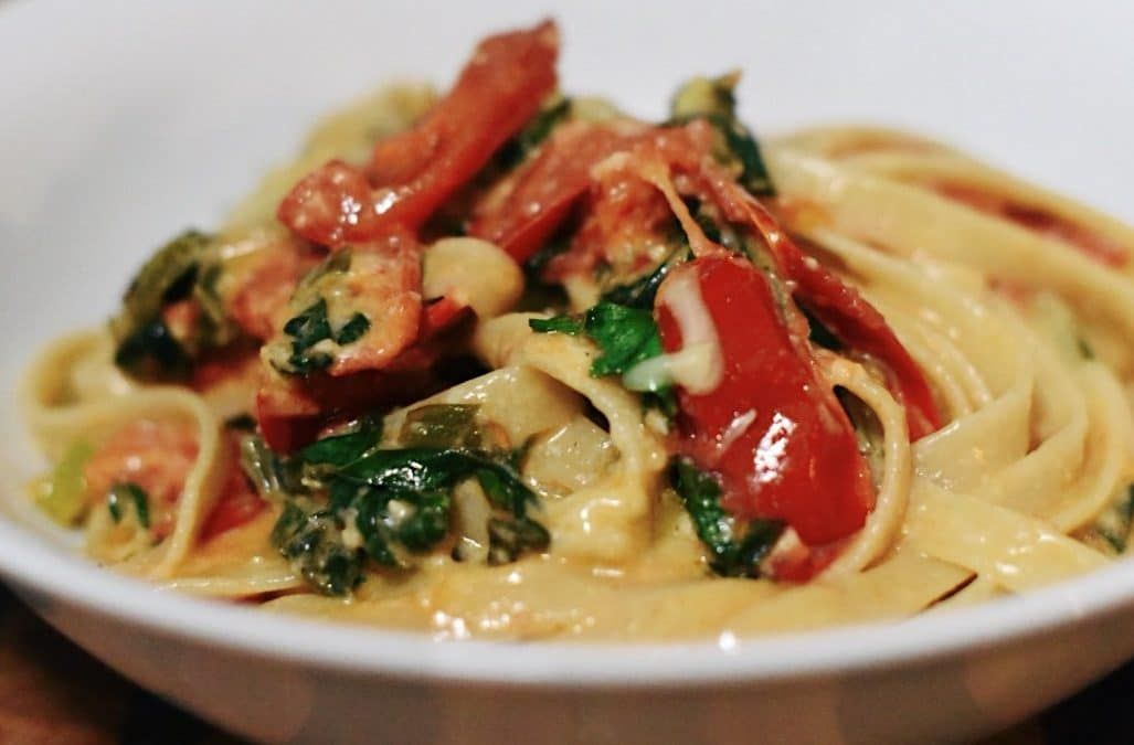 Weeknight pasta dinner
