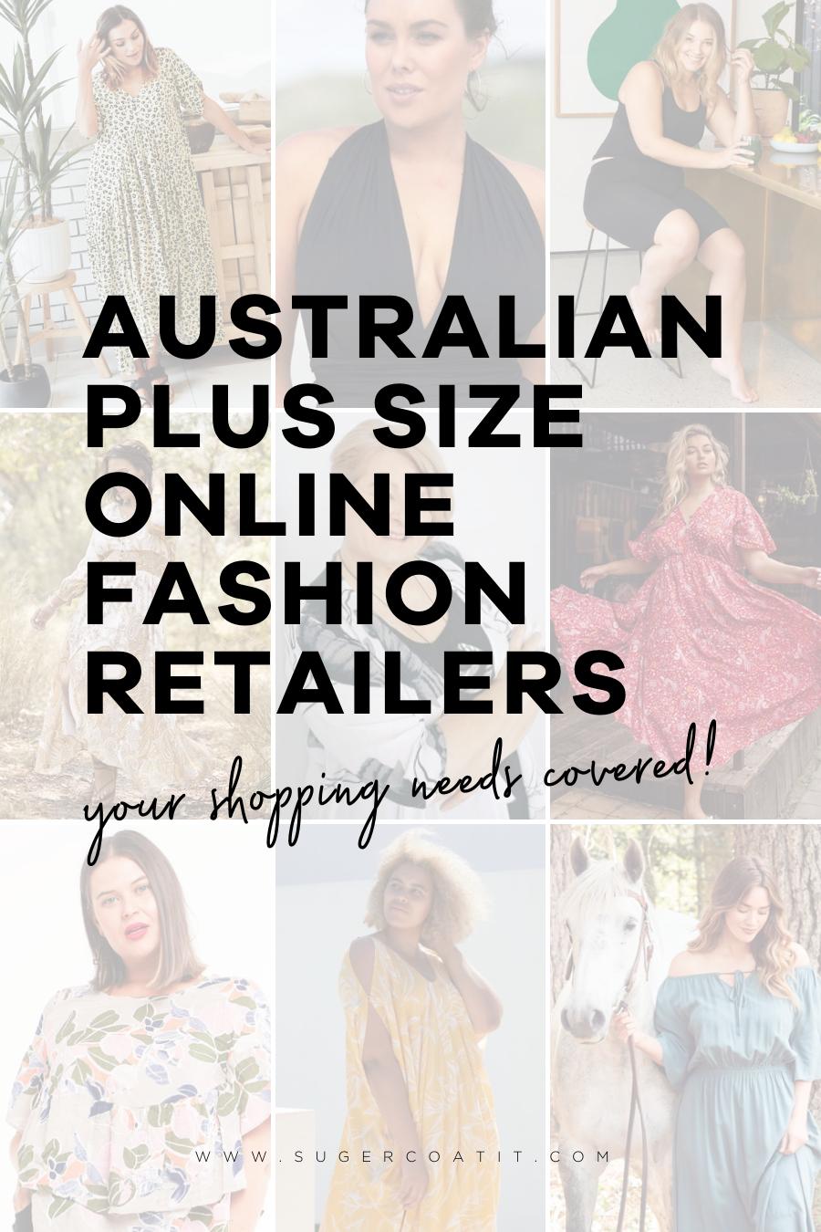 Australian Plus Size Fashion Retailers - Suger Coat It
