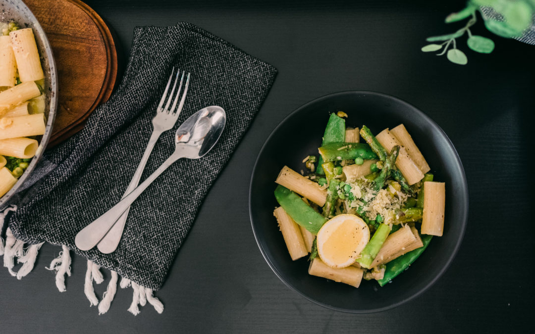 Simple Pasta with Lemon, Asparagus + Peas