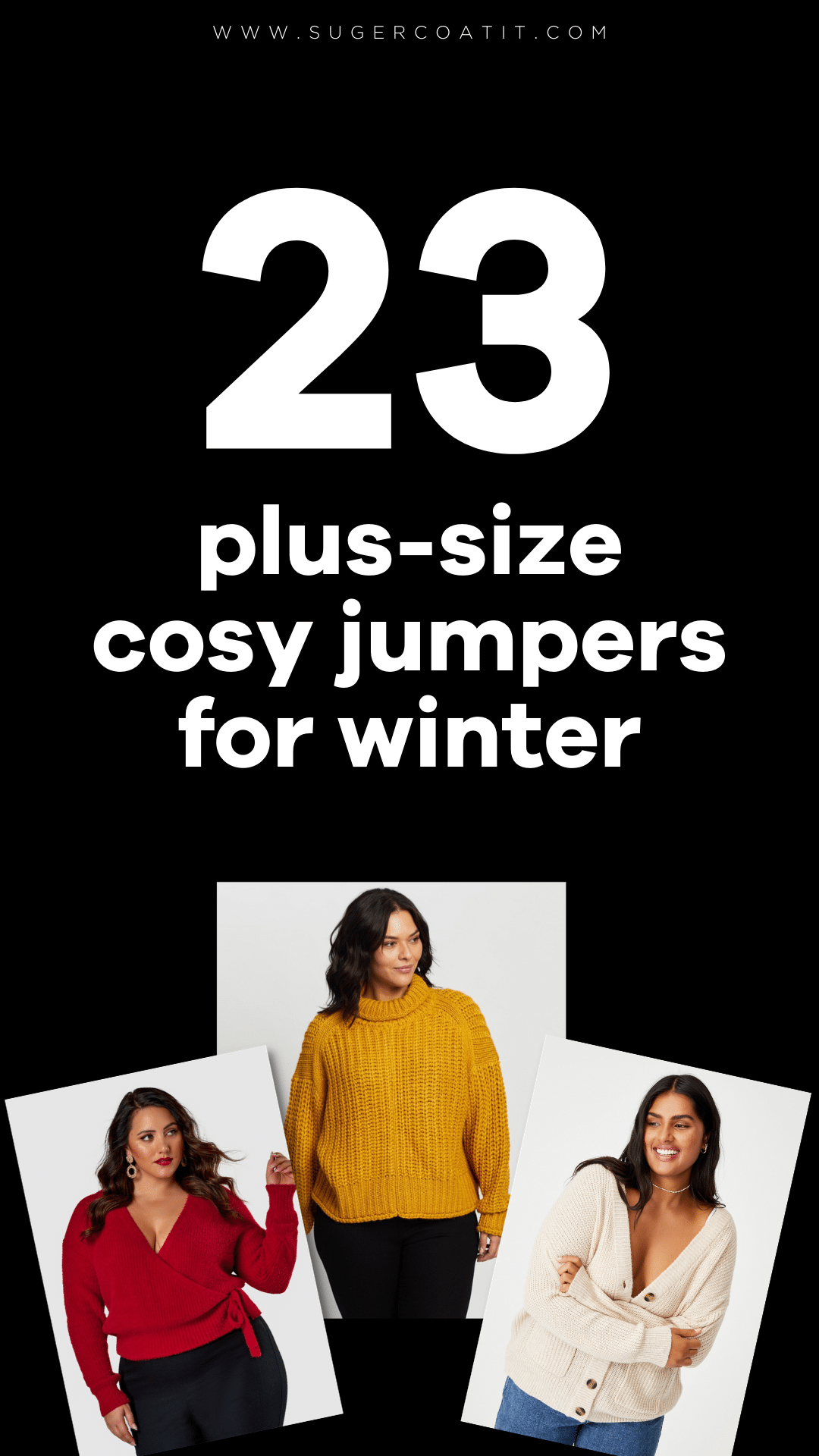 23 plus-size cosy jumpers for winter - Suger Coat It